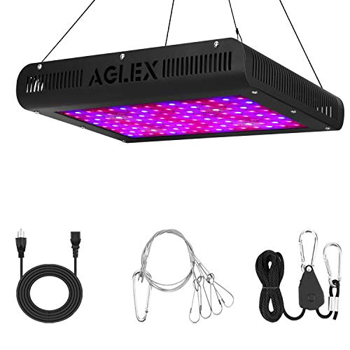 AGLEX 1200W LED Grow Light - B Plus Full Spectrum LED Plant Grow Lamp with Daisy Chain UV IR for Greenhouse Indoor Plants Veg and Flower 2020 Upgraded