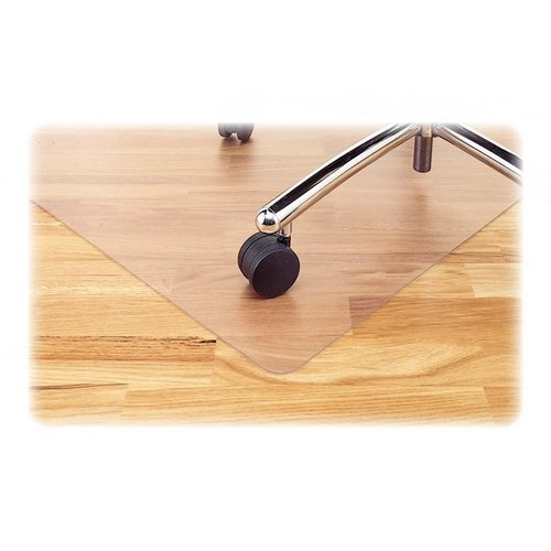 Rubbermaid-HardfloorMat Chair Mat for Hard Floors, 45 x 53, 25 x 12 Lip, Clear (RUB76600) Category: Chair Mats
