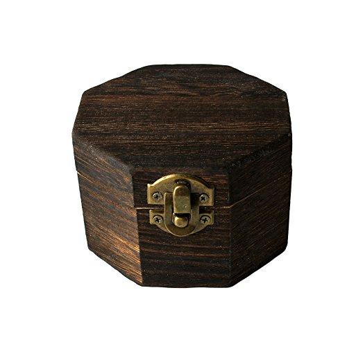 Demarkt Achteckig Holzbox Holzkiste mit Deckel