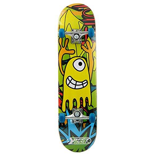 Best Sporting Skateboard, ABEC 3, max. Belasting 100 kg, kleur: geel
