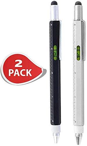 2er Set Stifte, Aluminium-Kugelschreiber mit Schraubendreher und Wasserwaage, Multitool Kugelschreiber von notrash2003