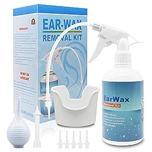 ◆ La Eliminación Más Avanzada de Cerumen - La piel del oído es demasiado sensible para usar herramientas sólidas, por lo que nuestro kit de cerumen es la opción perfecta para usted. El sistema de irrigación Ear Washer Irrigation es un kit de eliminac...