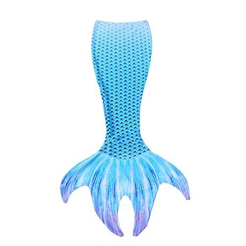 iiniim Cola de Sirena para Nadar Mujer Chica Disfraz Princesa Sirena Cosplay Bañador Llamativo Sexy Traje de Baño Ropa para Playa Piscina Nadación Elástico Mermaid Tail Swimwear Azul Small