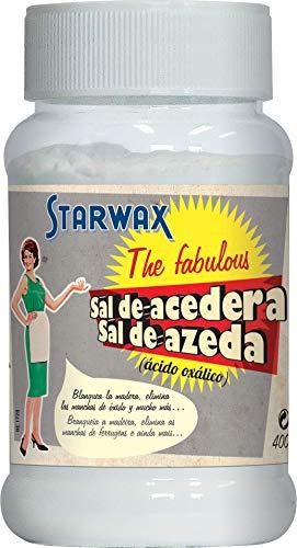 Starwax The Fabulous Sal de Acedera 400 gramos - Polvo de Ácido Oxálico Inodoro e Incoloro, Blanquea los Textiles, la Madera y el Cuero, Elimina el Óxido