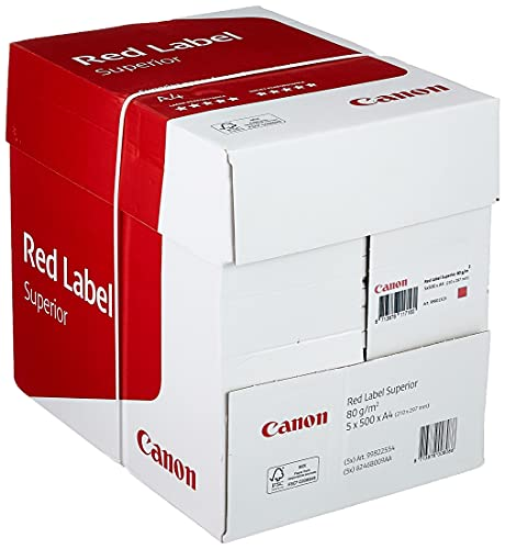 Canon Deutschland Red Label Presentation Geschäftspapier, 5x500 Blatt FSC zertifiziert, A4, 80 g/m², alle Drucker hochweiß CIE 168 (optimierte Schutzverpackung)