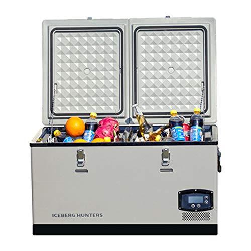 GAOXIAOMEI Refrigerador Portátil Portátil De 68 Cuartas Cuartasta con Compresor, Congelador De 12 Voltios para Automóvil, Hogar, Camping, RV, -4 ° F A 50 ° F Mini Nevera, 12 / 24V DC, 110-240V AC
