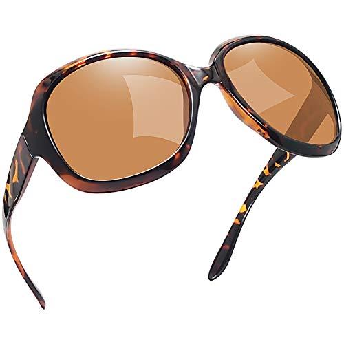 Joopin Gafas de Sol Mujer Moda Polarizadas Protección UV400 de Gran Tamaño Gafas de Sol Señoras Leopardo