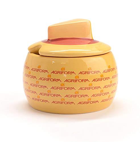 Agriform parmesano reggiano–Quesera Clásica de cerámica con Cuchara