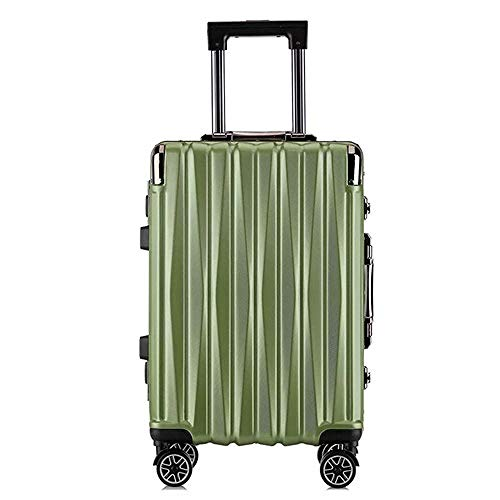 SFBBBO luggage suitcase aluminum rolling luggage spinner brand fashion travel suitcase on wheels 24' green