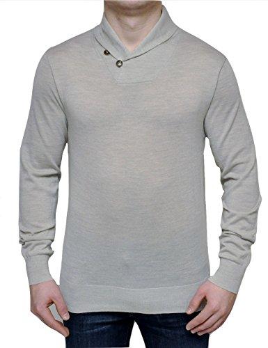 Polo Ralph Lauren Merino Wool Shawl Collar Sweater Pullover, Lt. Gray, Small
