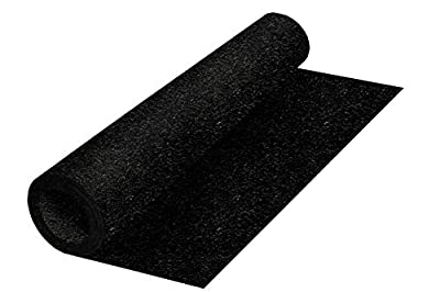 Genaflex Roll Solid Rubber 8mm Thick 4' X 20' Heavy Duty Protective Exercise Gym Flooring Mats (4' X 20', Black)