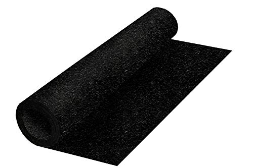 Genaflex Rubber Gym Floor Mat - 8mm Thick - 4' X 20' Heavy Duty Commercial Protective Gym Flooring Roll - Black