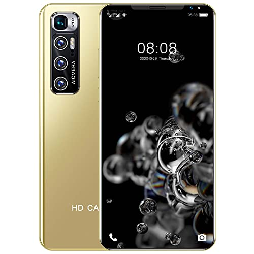 Smartphone Libre, Android 10 Teléfono Móvil, con Pantalla HD+ de 5.5', 10 Core, 3GB + 32GB(SD 128GB), AI Cámara Triple de 32MP, Batería de 5600mAh, Dual SIM,Oro