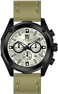 T5 H3515G-C Round Leather Watch for Men