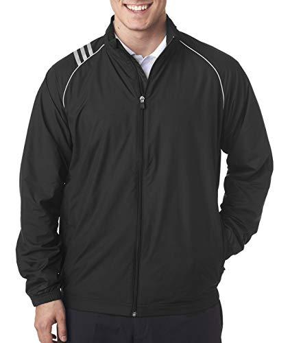 adidas Golf Mens 3-Stripes Full-Zip Jacket (A169) -Black -2XL