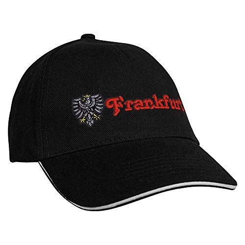 Fan-O-Menal Textilien Baseballcap mit Einstickung Adler Frankfurt 68261 Farbe schwarz