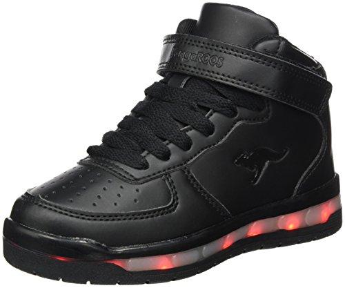 KangaROOS Unisex-Kinder K-LID Sneaker, Schwarz (Jet Black), 38 EU