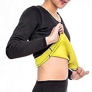 Hand Drums Women Sweat Weight Loss Sauna Suit Neoprene Workout Shirt Training Body Shaper Zipper Sli...