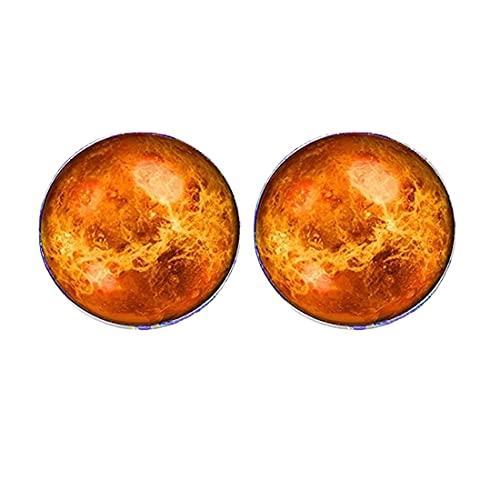 Pendientes Venus con sistema solar Galaxy Universe unisex para hombre y mujer