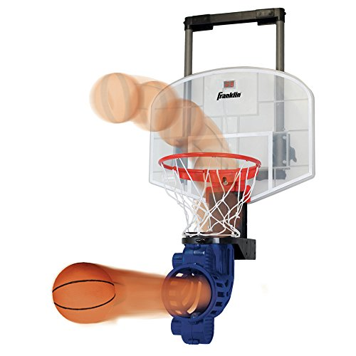 Franklin Sports Over The Door Basketball Hoop With Ball Return - Game Room Ready - Shatter Resistant - 2 Mini Basketballs - Accessories Included