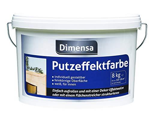Rauhfaserfarbe weiß | Wandfarbe mit Struktur Jetzt Wand- und Deckenfarbe weiss | 8 kg