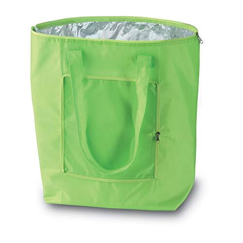 PromotionGift Kühltasche für Einkauf faltbar (Limette)