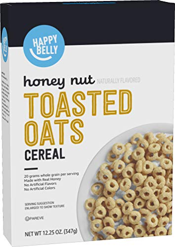 Amazon Brand  Happy Belly Honey Nut Toasted Oats Cereal 125 Ounce