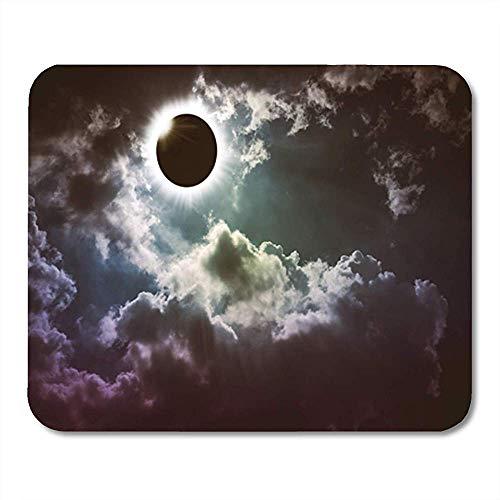 Alfombrilla de ratón para Juegos Increíble Fenómeno Natural científico Anillo de Diamante Eclipse Solar Total 25X30 cm Alfombrilla de ratón Antideslizante para Oficina