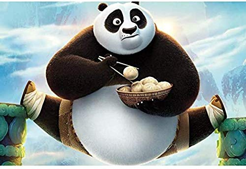HZDXT® Rompecabezas de Anime de Dibujos Animados, Rompecabezas de descompresión de Madera, Juegos interactivos Familiares Ocio Entretenimiento Juego Juguete - Kung Fu Panda