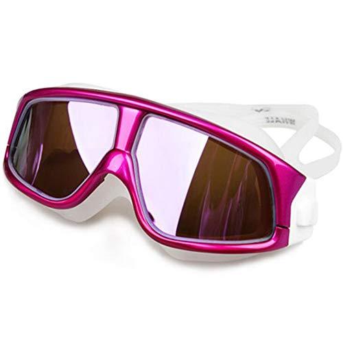 Zwembril comfortabele siliconen grote frame zwembril zwembril zwembril anti-mist UV mannen vrouwen zwemmen masker waterdicht