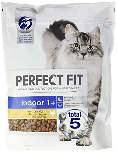 Perfect Fit kattenvoer droog voer indoor voor katten volwassenen 1+ rijk aan kip, 4500 g