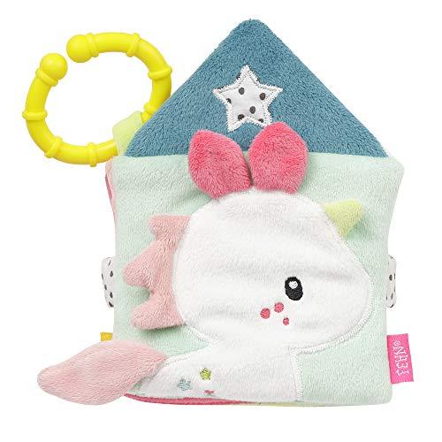 FEHN 057041 Aiko & Yuki - Libro de tela con motivos de animales: 8 páginas con emocionantes colores y funciones para sentir, agarrar y asombrar, para bebés y niños pequeños a partir de 0 meses (Producto para bebé)