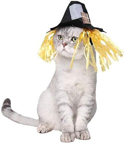 Ropa Perro Conveniente for los pequeos Perros y Gatos Mascotas Suministros de Halloween Carnaval Patch Divertido espantapjaros Sombrero de Gato y Perro decoracin de la transfiguracin mwsoz