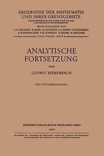 Analytische Fortsetzung (Ergebnisse der Mathematik und ihrer Grenzgebiete. 2. Folge (3), Band 3)