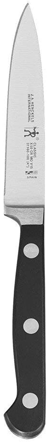 INTERNATIONAL 31160-101 Classic Paring Utility Knife, 4-inch, Black Stainless Steel