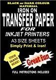 Imprimible Plancha Camiseta & Tejido Papel Transfer para Telas Oscuras 10 A3 Hojas