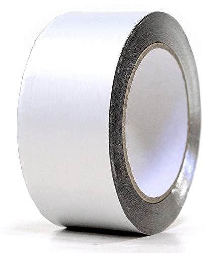 Weigand Aluminiumklebeband 10 m lang, 70 mm breit I bis 140°C hitzebeständig I Saunabau I Sauna I Saunazubehör I Alu I Alufolie I Klebeband I Aluklebeband I Elementsauna I Dampfsperre