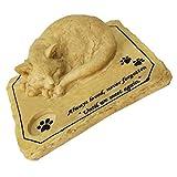 YARNOW Lapide Commemorativa per Gatti Lapide per Animali da Compagnia Lapide per Lapide da Giardino con Lapide per Animali Domestici con Design a Candelabro 21X16. 5 Cm