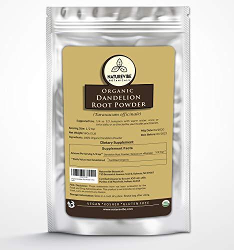 Naturevibe Botanicals Organic Dandelion Root Powder, 1lb | Taraxacum officinale | Non-GMO & Gluten Free | Skincare (16 ounces)
