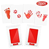 Baby Handabdruck und Fußabdruck, Etmury 2pcs Baby Abdruck Set Sauber Touch Sicher Ungiftig Stempelkissen Baby Handprint Babyhaut Kommt Nicht mit Farbe in Berührung, Taufe Geschenk für Neugeborene