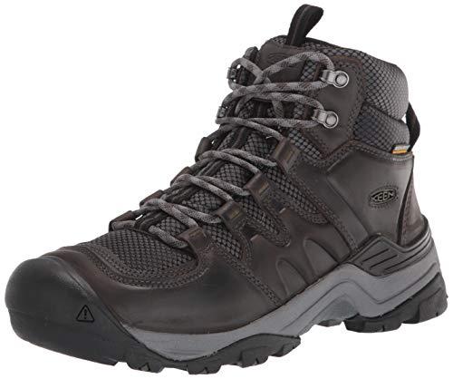 KEEN Herren Gypsum 2 Mid Height Waterproof Hiking Boot Wanderstiefel, Magnet/Forest Night, 45 EU