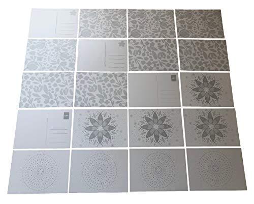 Rhinestone Paradise 20 stuks ansichtkaarten om zelf vorm te geven mandala bloemen ansichtkaart blanco ansichtkaarten om te beschilderen voor kinderen wenskaarten