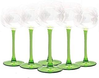 6 Verre à Vin en Cristal - Service Alsace - Maison Klein - Artisan du Cristal -Coffret Cadeau - Estampillé : Klein 54120 B...