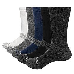 YUEDGE 5 Pairs Men's Cushion Crew Socks Outdoor Socks