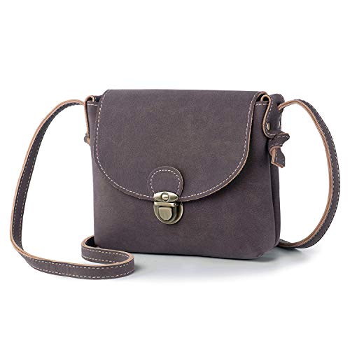 Small Cross Body Bag for Women with Anti-Theft Lock Vegan Leather Mini Ladies Handbag Shoulder Bag Side Bag for Holiday Travel Summer (Coffee)