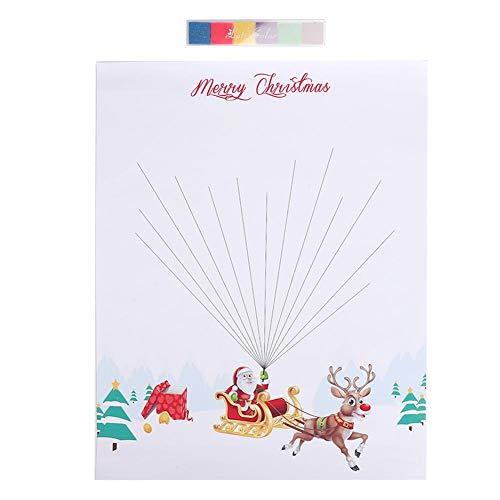 Topincn vingerafdruk handtekening schilderij met stempelkussen Vrolijk Kerstmis onder het motto DIY duurzame Xmas Home Ornament Decor