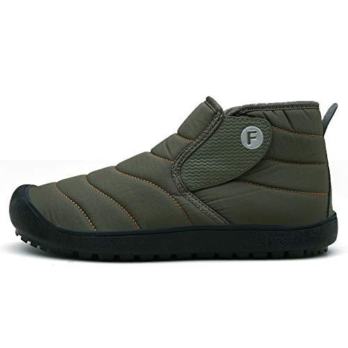 XIKONG Zapatillas de hombre de las mujeres acogedoras espuma viscoelástica interior al aire libre zueco casa zapatillas impermeables con suela de goma antideslizante verde-38