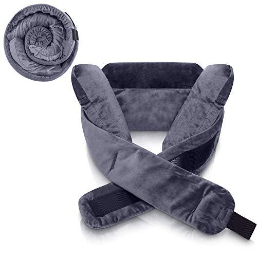 ComfortMe® Reisekissen - 360° Verstellbar, Leicht & Einrollbar | Ideale Stütze für Kopf, Hals und Kinn | Nackenkissen Auto Camping Kissen Reise Nackenhörnchen | Jetzt Farbe wählen