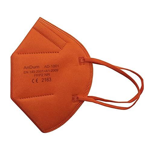 Null Karat 5 Stck FFP2 Masken Atemschutzmasken bunt farbig viele Farben Farbe Orange
