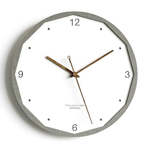 Xz max @Muur Klok Muur klokken voor woonkamer huiskamers Ronde milieu MDF licht eenvoudige decoratieve klok kleur grens massief hout pointer 12 inches